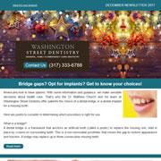 Washington Street Dentistry - December, 2017 Newsletter