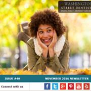 Washington Street Dentistry - November 2016 Newsletter