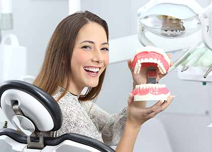 At Washington Street Dentistry in Indianapolis,Dr. Matthew Church, used to replace missing teeth. In many cases, patients may benefit from partial or full dentures.