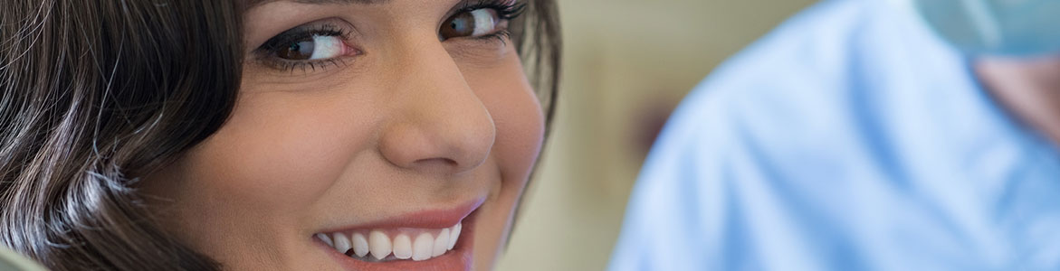 Young woman at dentist room